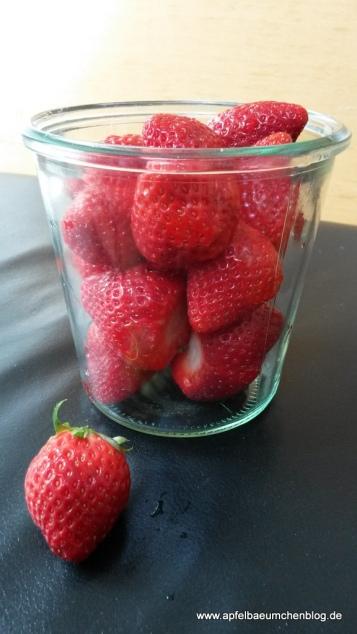 Erdbeeren, Glas